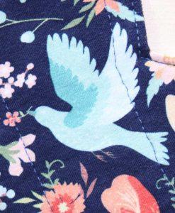 "7"" Liner cloth pad | Bluebird Cotton Jersey | Navy Needlecord |"