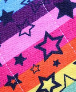 "7"" Liner cloth pad | Rainbow Stars Cotton Jersey | Navy Needlecord |"