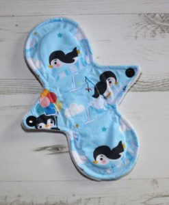 8″ Light Flow cloth pad | Cute Penguins Cotton | Mint Wind Pro Fleece | Slim Sub 1