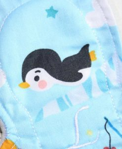 8″ Light Flow cloth pad | Cute Penguins Cotton | Mint Wind Pro Fleece | Slim Sub 2