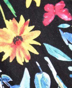 "8"" Liner cloth pad | Black Flowers Cotton | Sunrise Needlecord | Standard"