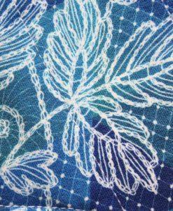 "8"" Liner cloth pad | Leaf Stitch Cotton Jersey | Navy Needlecord |"
