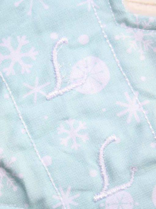 8″ Liner cloth pad | Mint Snowflakes Cotton | Mint Wind Pro Fleece | Slim Sub 2