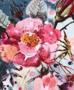 "8"" Liner cloth pad | Rose Bouquet Cotton Jersey | Burgundy Stars Needlecord | Standard"