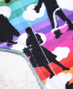 9″ Liner cloth pad   Oz Cotton Jersey   Aqua Polar Fleece   Luna Landings   Sub 2