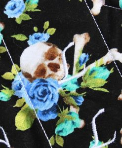 11″ Light Flow cloth pad | Skull Bouquet Cotton | Pink Polar Fleece | Luna Landings | Sub 2