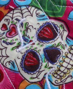 6″ Liner cloth pad   Day of the Dead Pink Cotton   Mint Wind Pro Fleece   Luna Landings   Sub 2