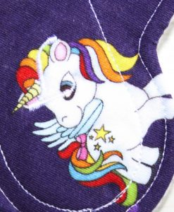 6″ Liner cloth pad | Rainbow My Little Pony Deep Purple Cotton | White Polar Fleece | Luna Landings | Sub 2