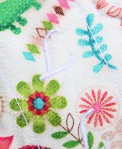 6″ Liner cloth pad   Woodland Pals Cotton   White Polar Fleece   Luna Landings   Sub 2