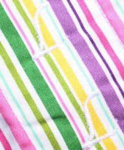 8″ Liner cloth pad   Pink Multi Stripes Cotton   Aqua Polar Fleece   Luna Landings   Sub 2