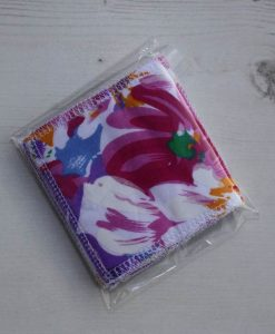 Pink and Purple Flowers Make-up remover wipes – set of 5