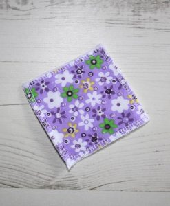 Flowers on Lilac Make-up remover wipes – set of 5