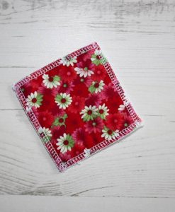Flowers on Red Make-up remover wipes – set of 5