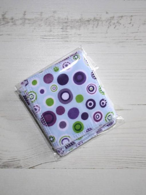 Purple Spots Make-up remover wipes – set of 5