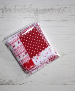 Red and Pink Patchwork Make-up remover wipes – set of 5IMG_9622