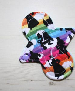 6″ Liner cloth pad | Oz Cotton Jersey | Aqua Polar Fleece | Luna Landings | Slim Sub 1