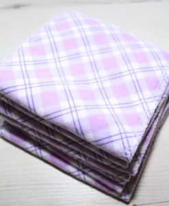 Lilac Plaid – Family cloth – Set of 7