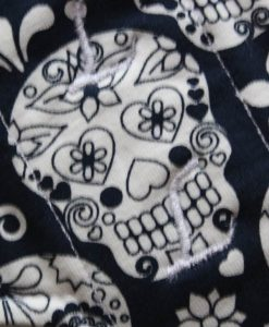 10″ Liner cloth pad | Day of the Dead Navy Cotton Jersey | White Polar Fleece | Luna Landings | Slim Sub 2