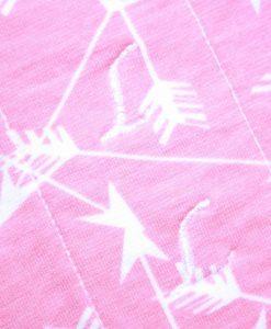 11″ Light Flow cloth pad | Pink Arrows Cotton Jersey | Grey Wind Pro Fleece | Luna Landings | Sub