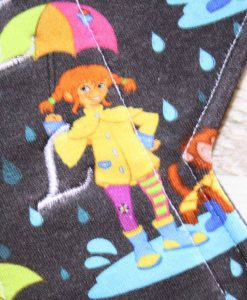12″ Regular Flow cloth pad | Singing in the Rain Cotton Jersey | Indigo Wind Pro Fleece | Luna Landings | Double Flare 2