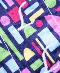6″ Liner cloth pad | Geometric Shapes Cotton | Aqua Polar Fleece | Luna Landings | Sub 2