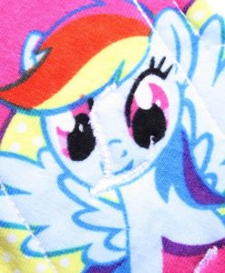 6″ Regular Flow cloth pad | My Little Pony Pink Cotton Jersey | Yellow Wind Pro Fleece | Luna Landings | Sub 2