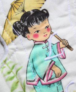 8″ Liner cloth pad | China Girl Cotton | White Polar Fleece | Luna Landings | Slim Sub 2