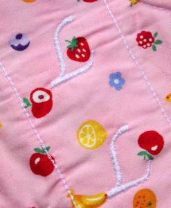 8″ Liner cloth pad | Fruit Salad Cotton | White Polar Fleece | Luna Landings | Slim Sub 2