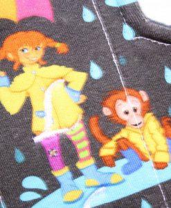 "8"" Regular Flow cloth pad | Singing in the Rain Cotton Jersey | Indigo Wind Pro Fleece | Luna Landings | Sub"