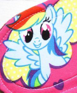 "9"" Regular Flow cloth pad | My Little Pony Pink Cotton Jersey | Burgundy Wind Pro Fleece | Luna Landings | Sub"