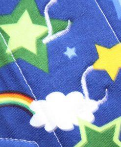 "9"" Regular Flow cloth pad | Stars and Clouds Cotton Jersey | Indigo Wind Pro Fleece | Luna Landings | Sub"