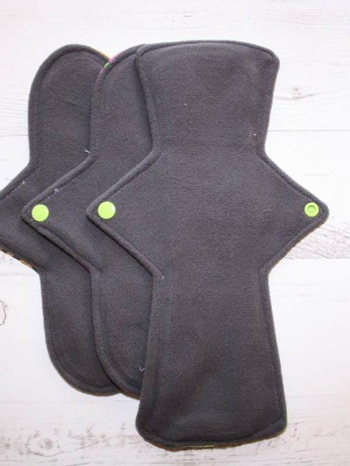Cloth Pad Starter Set – 10″ Regular flow x 2 | 12″ Heavy flow | Tea Rex