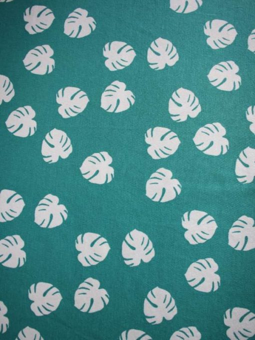 Monstera-Teal-Cotton-Jersey