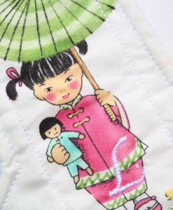 "10"" Light Flow cloth pad | China Girl Cotton | Mint Wind Pro Fleece | Luna Landings | Sub"