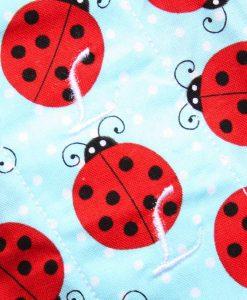 "10"" Light Flow cloth pad | Ladybugs Cotton | Red Wind Pro Fleece | Luna Landings | Sub"