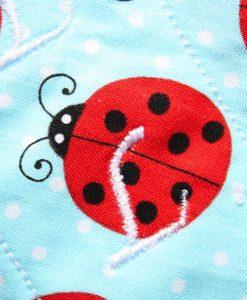 "6"" Light Flow cloth pad | Lady Bugs Cotton | Indigo Wind Pro Fleece | Luna Landings | Sub"