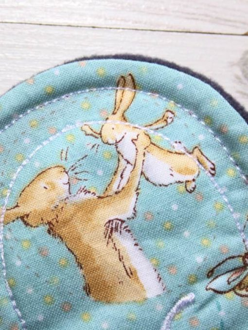 6″ Light Flow cloth pad | Some Bunny Loves You Cotton | Indigo Wind Pro Fleece | Luna Landings | Sub 2