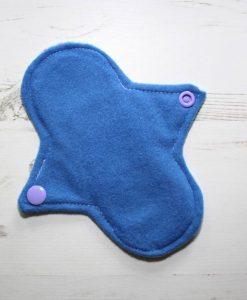 6″ Light Flow cloth pad | Unicorns on Aqua Cotton | Blue Wind Pro Fleece | Luna Landings | Sub 3