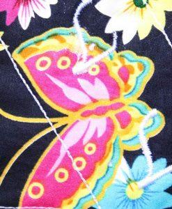 "6"" Liner cloth pad | Fantasy Butterflies Cotton | Cream Wind Pro Fleece | Luna Landings | Sub"