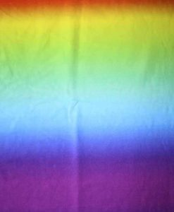 Bright Rainbow Ombre Cotton Jersey