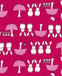Bunnies on Cerise Reusable Kitchen Roll