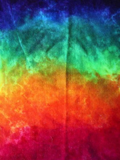 Dark Rainbow Cotton Velour