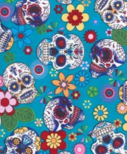 Day of the Dead Aqua Reusable Kitchen Roll