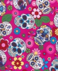 Day of the Dead Pink Reusable Kitchen Roll