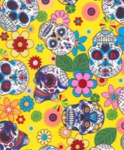 Day of the Dead Yellow Reusable Kitchen Roll
