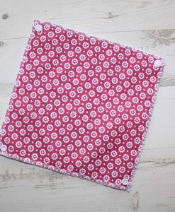 Cerise Flowers - Reusable Kitchen Towel - Single Sheet