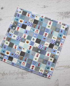 Blue Patchwork - Reusable Kitchen Towel - Single Sheet