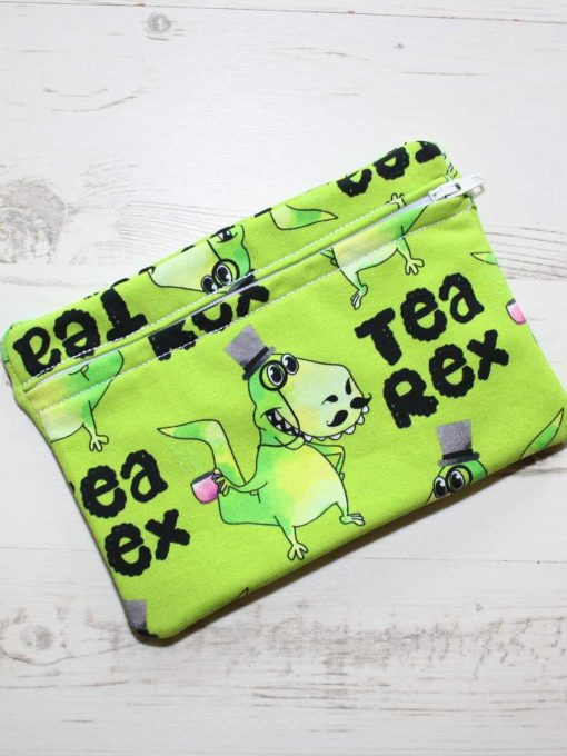 Tea Rex Green Small Wet Bag