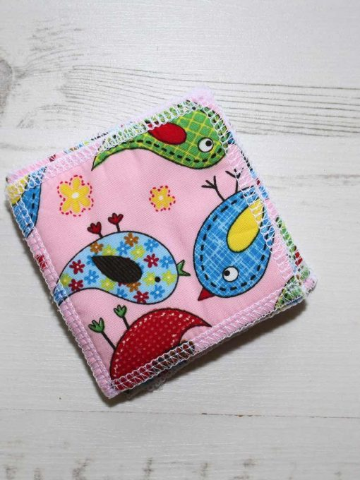 Pink Birds Make-up remover wipes - set of 5