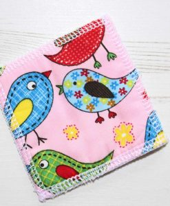 Pink Birds Make-up remover wipes – set of 5